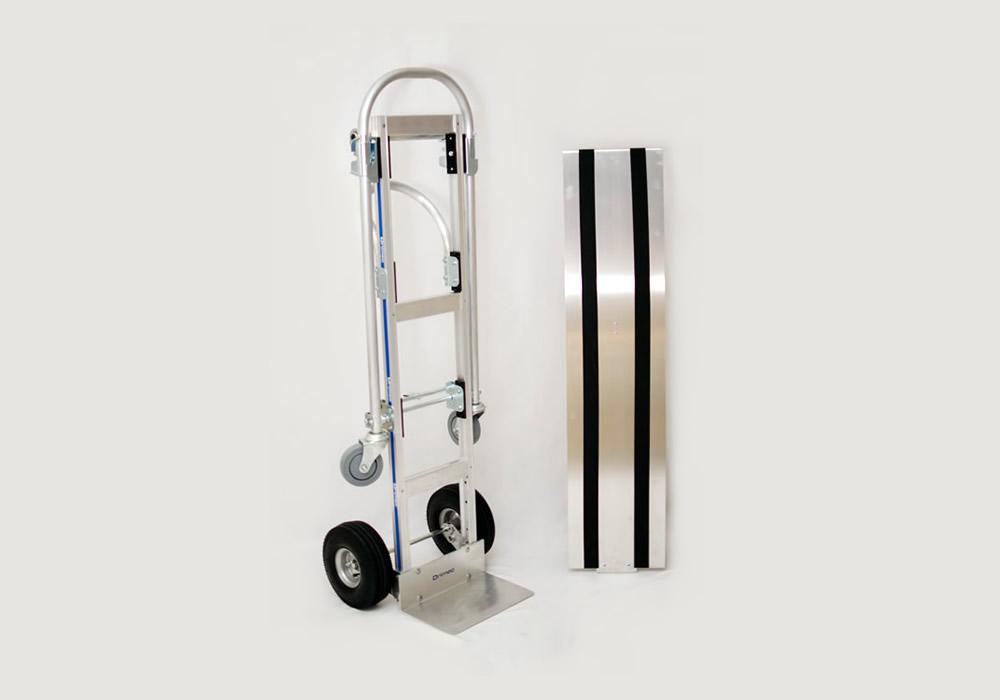 Carrinho de carga 2×1 Senior em alumínio com deck